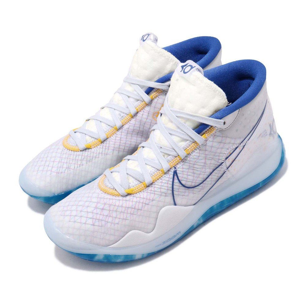 NIKE 籃球鞋 Zoom KD12 EP 運動 男鞋 明星款 避震 包覆 高筒 球鞋 穿搭 白 藍 [AR4230-100]