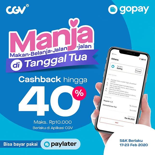 Gopay Promo Cgv Tanggal Tua Cashback Hingga 40 Gopay Line Today