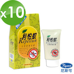 尼斯可 利怕蚊天然防蚊乳霜60g*10瓶
