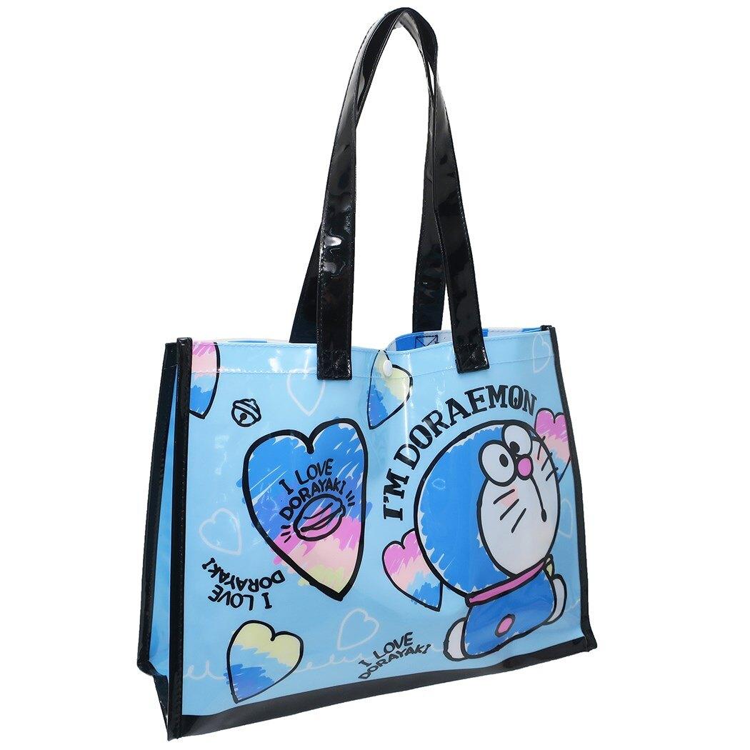 哆啦A夢Doraemon PVC透明側背袋,手提袋/肩背包/帆布袋/收納袋/雜物袋/側背袋,X射線【C476120】