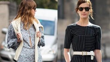 5項只不過是「腰帶外繫」與「外衣披肩」的變化 卻是今年夏天最夯的行頭!