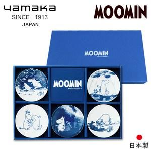 【日本yamaka】嚕嚕米彩繪陶瓷迷你盤禮盒5入組MM2700-127