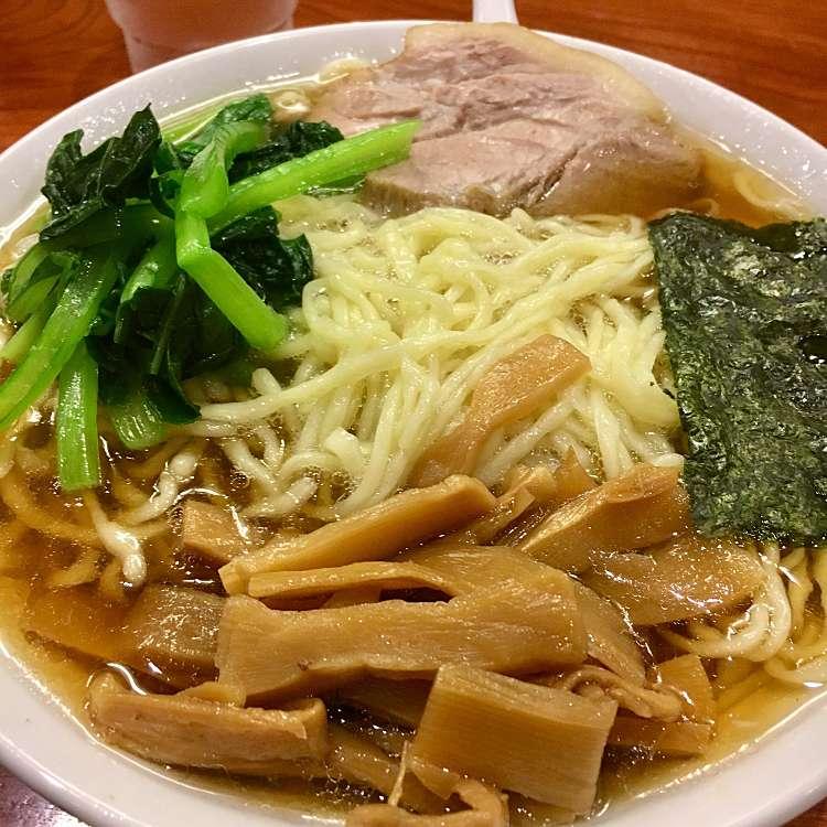 新宿区周辺で多くのユーザーに人気が高い醤油ラーメンらあめん 満来のらあめんの写真