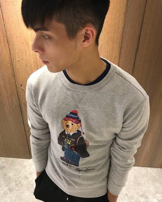 美國百分百【全新真品】Ralph Lauren T恤 RL 長袖 泰迪熊 polo 小熊 大學T 灰 XS/S J536。流行男裝與男鞋人氣店家美國百分百的首頁有最棒的商品。快到日本NO.1的Raku