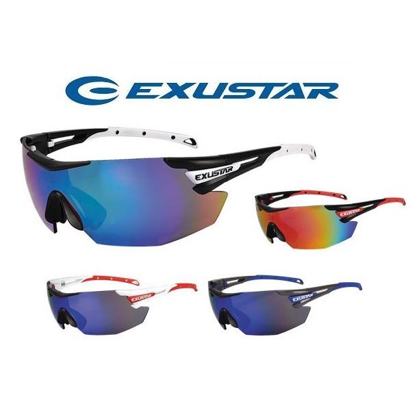 EXUSTAR太陽眼鏡、E-CSG23◎ 台灣製造 ◎ 戶外活動都適用 ◎ TR90鏡架、可拆換PC鏡片 ◎ 鼻墊可調、鏡腳止滑設計 ◎ 抗UV、CE【商品特色】多種不同鏡架顏色可選,隨鏡架顏色不同,