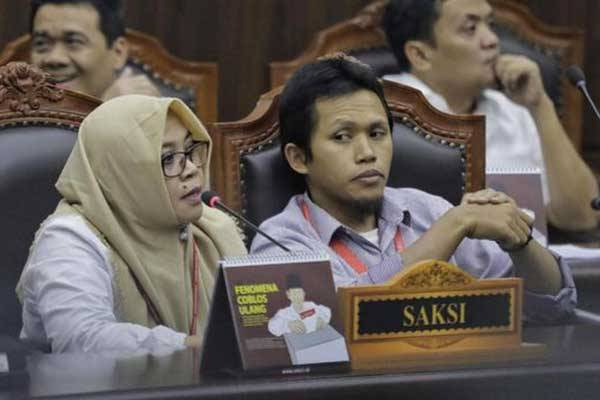 Beti Kristina, saksi yang dihadirkan Tim Hukum Capres Cawapres nomor urut 2 Prabowo – Sandiaga