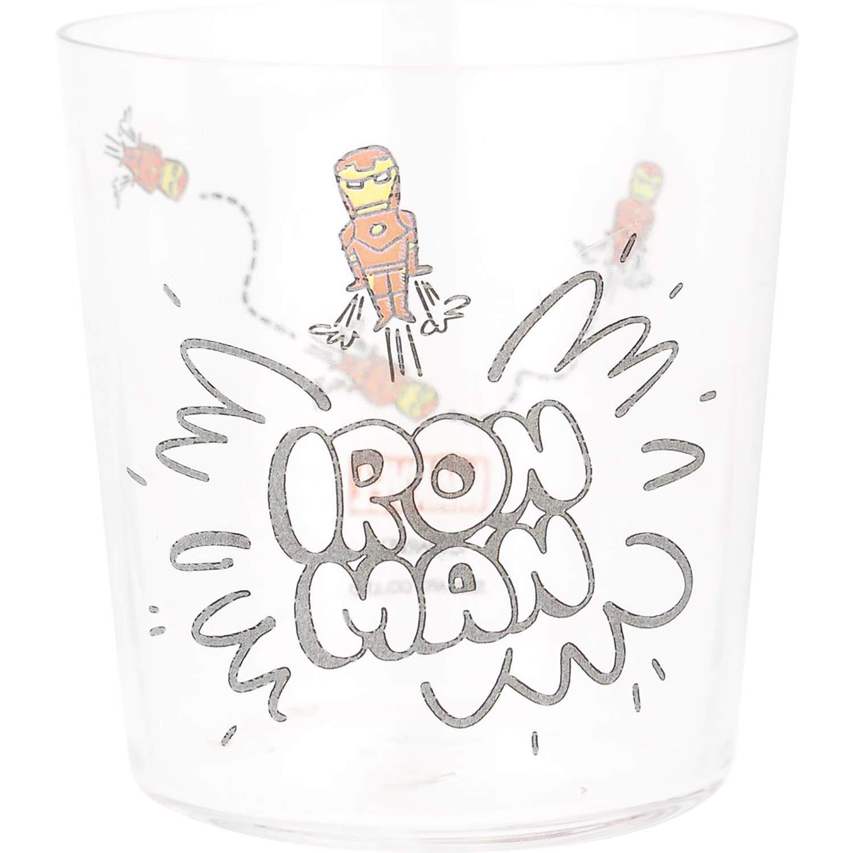 X射線【C249542】鋼鐵人 IronMan 玻璃果汁杯350ml,水杯/塑膠隨行杯/漱口杯/環保杯/塑膠杯