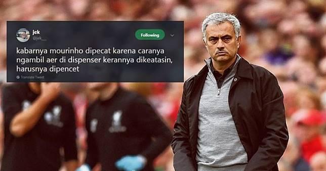 12 Cuitan lucu 'alasan Mourinho dipecat', bikin fans MU kesel