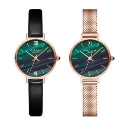 ◎氣質女錶|◎質感錶盒|◎送禮首選品牌:無型號:LolaRose使用族群:女錶,對錶手錶特性:三針錶帶材質:皮革錶帶鏡面材質:礦石鏡面機芯類型:石英錶動力來源:電池錶盤形狀:圓形錶帶顏色:黑色系,玫瑰