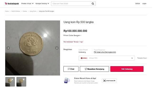 Gambar Uang Koin 500 Rupiah Koin 500 Rupiah Dijual Hingga Rp 100 Miliar Di Marketplace Ini