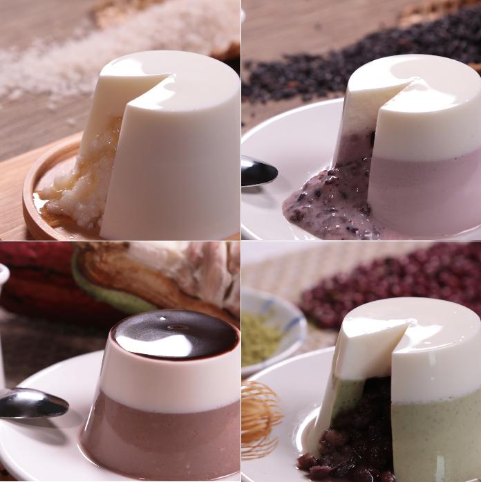 鮮奶酪★精巧綜合4杯入組★市場唯一雙層內餡.超大容量.最多口味鮮奶酪 口味:紫米魅力│相思抹茶│可可好心情│香芋太早