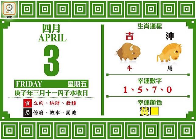 吉時:上午9時至11時、下午1時至3時、下午3時至5時