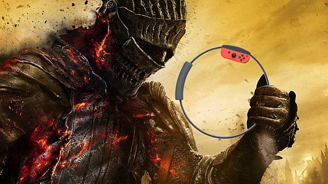 Sadis, Pria Ini Mainkan Game Dark Souls 3 dengan Controller Ring Fit Adventure