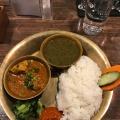 Chiccken Dal bhat set - 実際訪問したユーザーが直接撮影して投稿した大久保ネパール料理ネパール民族料理 アーガンの写真のメニュー情報