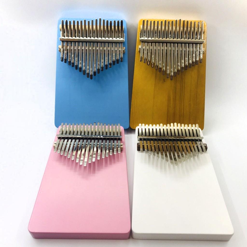 【新理想樂器】彩色 實木 17音 kalimba 卡林巴琴 拇指琴 姆指琴 附調音槌