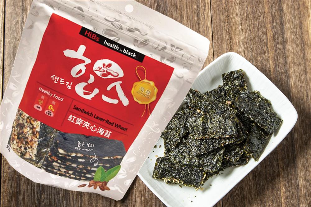 【雋品】HiBs紅麥海苔夾心/南瓜子海苔夾心50g
