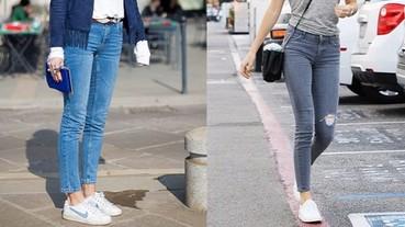 發揮一些巧心思,能讓牛仔褲與運動鞋更完美搭配!