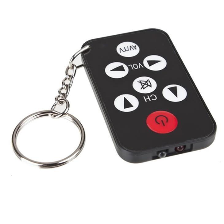 艾比讚 萬能電視遙控器【LRM8S】 鑰匙圈造型 鑰匙扣電視遙控器 迷你萬能電視遙控器 超薄遙控器