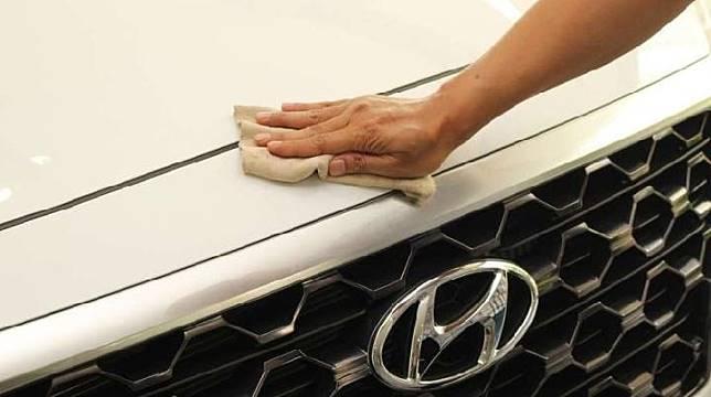 Ilustrasi mobil berwarna putih. (Hyundaimobil.co.id)