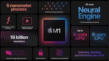 Apple 首款 Mac 系統 ARM 架構晶片正式定名「M1」,Mac 系列高效長續航的重要關鍵