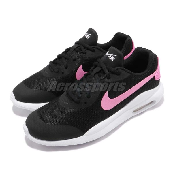Nike 休閒慢跑鞋 Air Max Oketo GS 黑 粉紅 白 休閒鞋 運動鞋 氣墊 女鞋 大童鞋【PUMP306】 AR7423-001