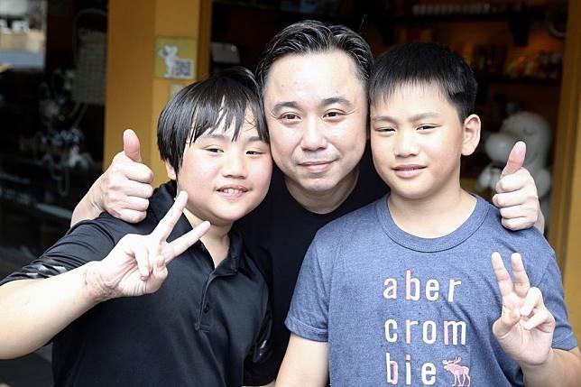 小小彬(左起)、小彬彬、迷你彬一家都是童星。記者林伯東/攝影
