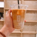 ラテ (L) - 実際訪問したユーザーが直接撮影して投稿した新宿コーヒー専門店COBI COFFEE boxの写真のメニュー情報