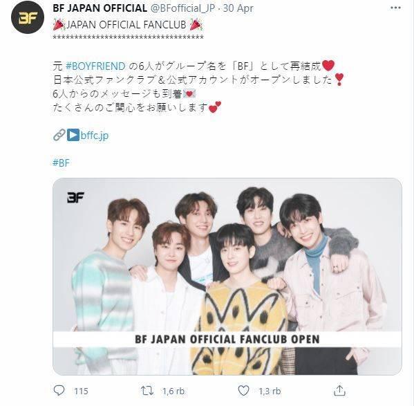 Postingan Akun Twitter BF Jepang