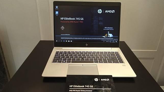 Laptop HP Elitebook HP EliteBook 745 G6 diluncurkan di Jakarta, Senin (21/10/2019). [Suara.com/Tivan Rahmat]