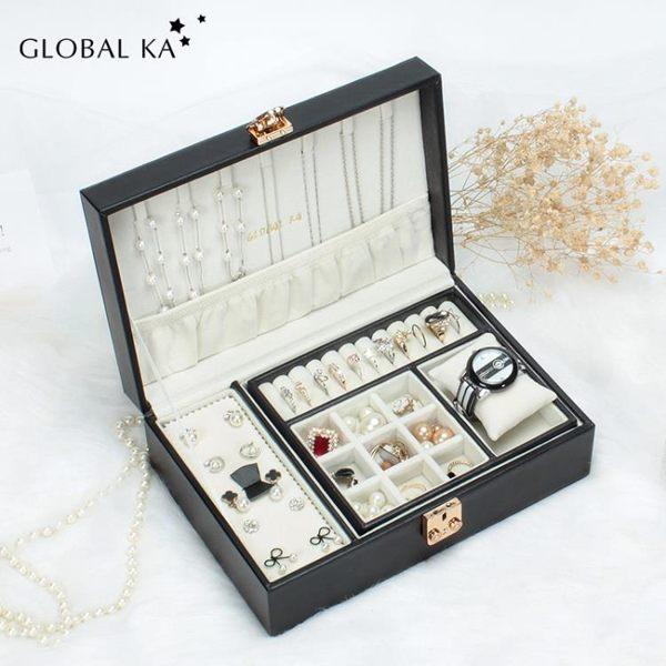 Global ka/環球之嘉首飾盒女飾品收納盒戒指盒耳釘收納盒歐式公主