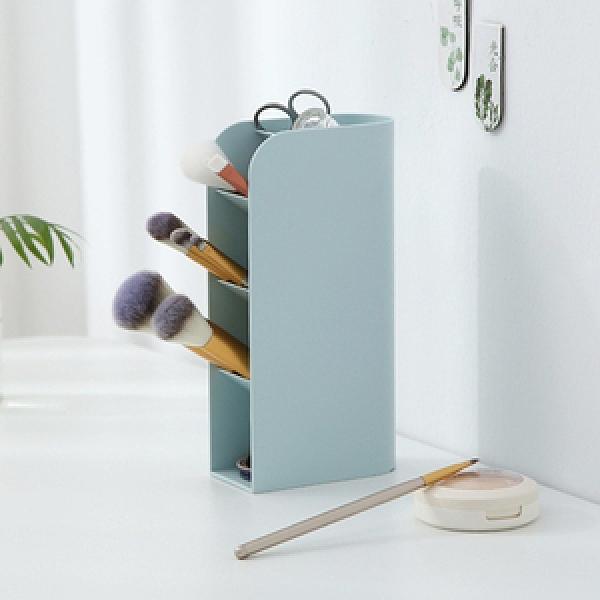【IDEA】多功能文具小物收納直橫式筆筒冰川藍