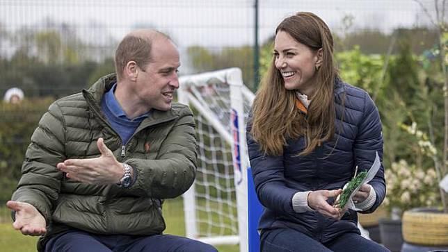 Pangeran William dan Kate Middleton. (Andy Commins/Pool via AP)