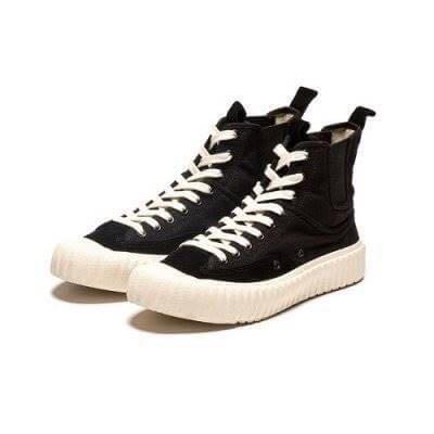 【Luxury】韓國 EXCELSIOR 餅乾鞋 CF M8124CS BK 高筒 彈性側邊 繃帶鞋 鞋底 黑 正品代購