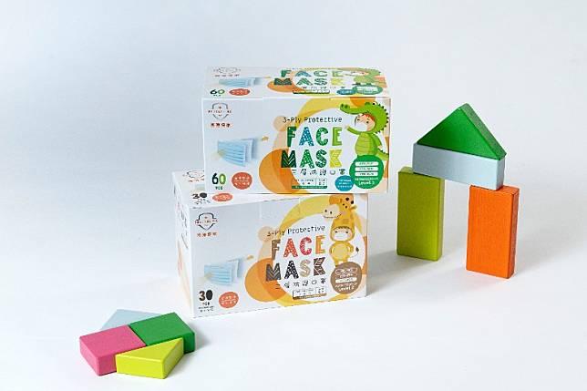 小童口罩第一級(圖上)及第二級(圖下),第二級口罩每盒30個,均是獨立包裝。(互聯網)