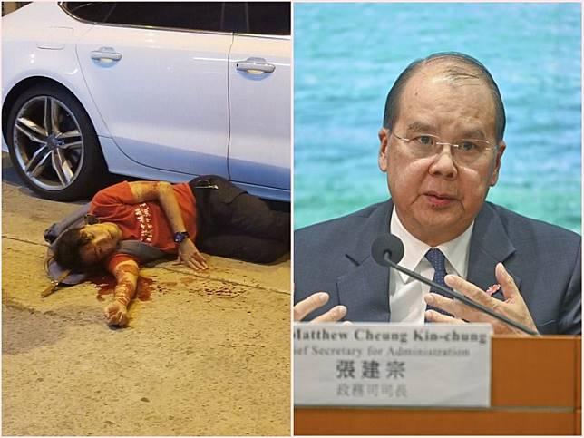 張建宗表示當局高度關注岑子杰遇襲案。