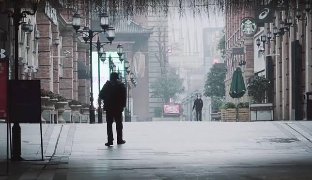▲ 1 月時受到疫情影響,武漢市爆發後立即封城。(圖/翻攝自 YouTube )