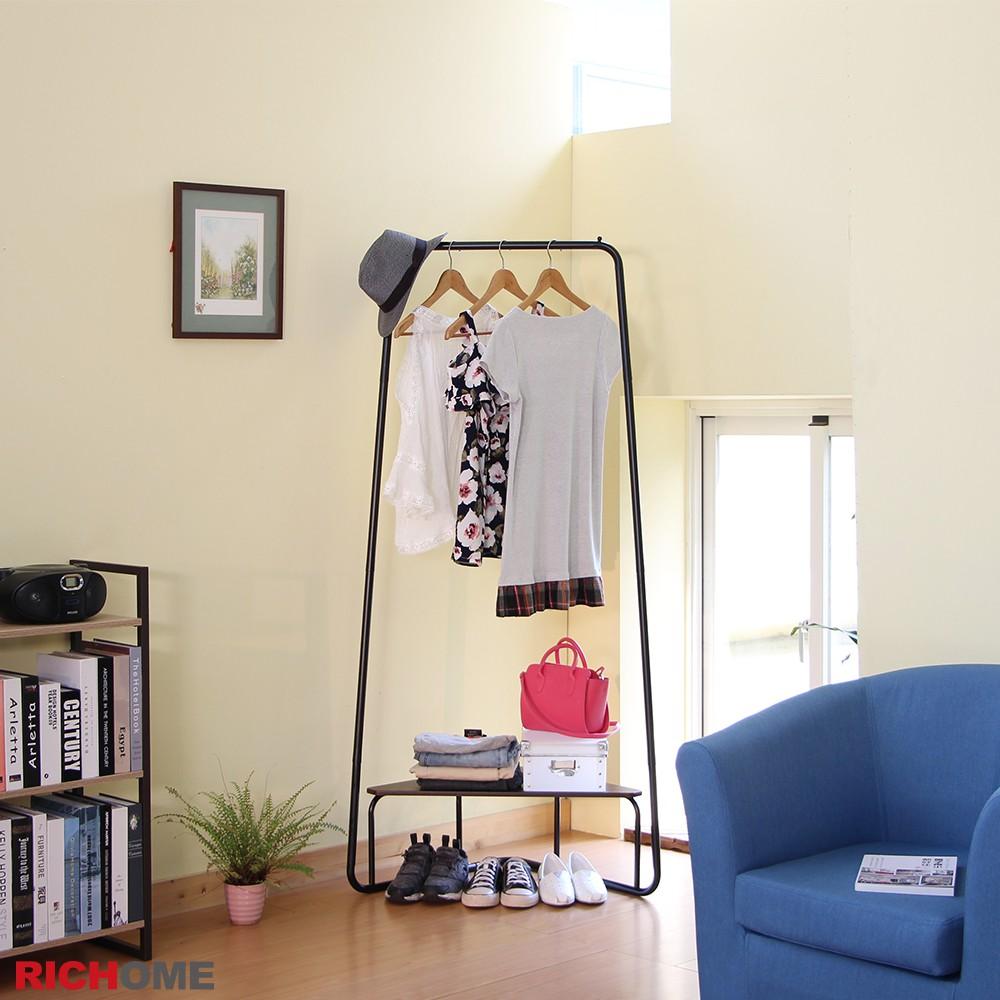 RICHOME HA116 福利品 多功能角落衣架-2色 衣架 掛衣架 收納架 玄關 臥室