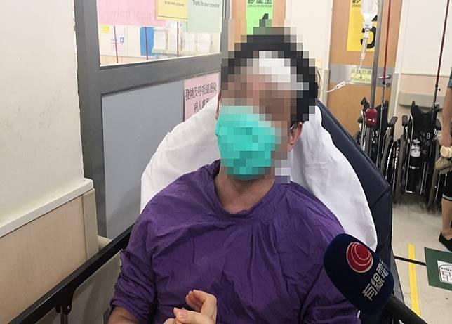 在元朗形點商場下班後回家的市民蘇先生,被大批白衫人士圍毆至遍體鱗傷。