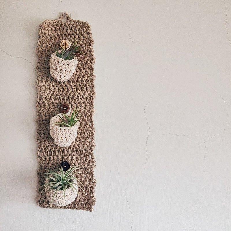 【空鳳壁掛】空氣鳳梨壁掛/編織壁掛/植物壁掛