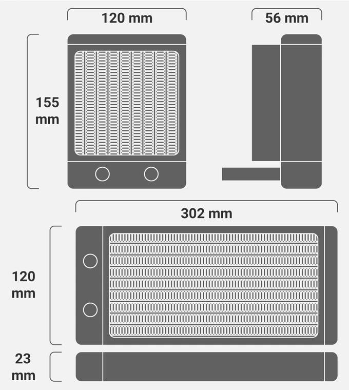 或是搭配120/240mm AIO水冷散熱系統。