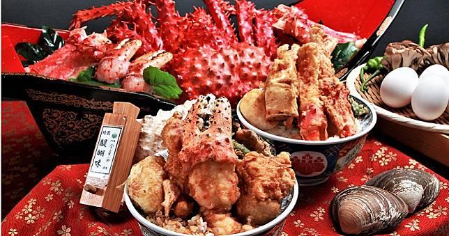 滿口都是蟹肉太幸福了!帝王蟹放入天丼不稀奇,竟然還做成腸粉、水晶餃
