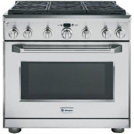 美國GE奇異 MONOGRAM 36系列 6口爐連雙烤箱