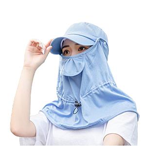 口罩、面巾可拆卸、暗扣、加大帽簷、汗帶設計,多種戴法遮陽防曬,可拆卸,輕薄透氣呼吸面料,全面...