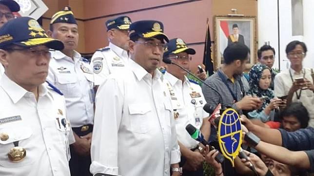 Menteri Perhubungan Budi Karya Sumadi. (Suara.com/Achmad Fauzi)