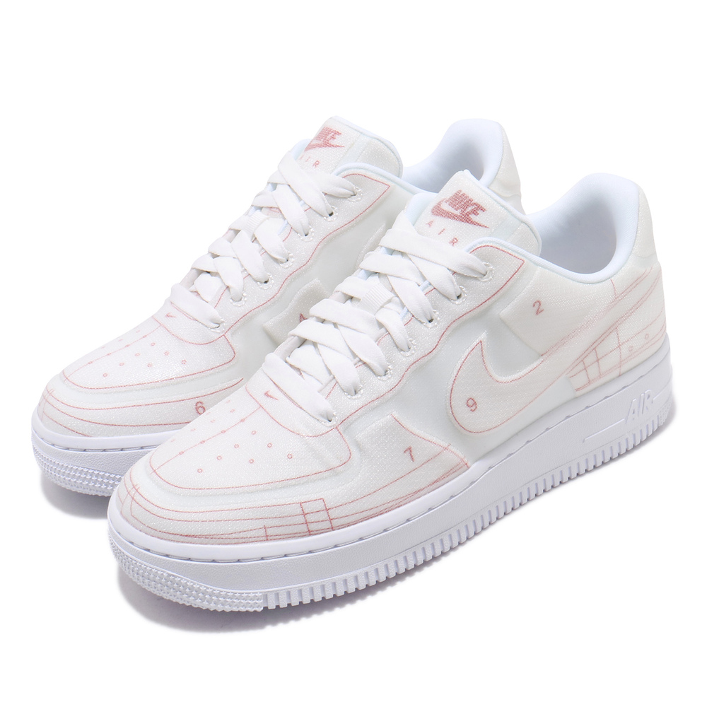 流行休閒鞋品牌:NIKE型號:CI3445-100品名:AF1 07配色:白色,紅色