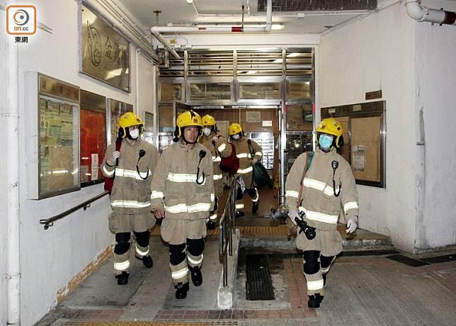 消防在場救援。(葉嘉文攝)