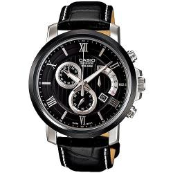 CASIO BESIDE 競速品味計時賽車腕錶(黑)_BEM-507BL-1A