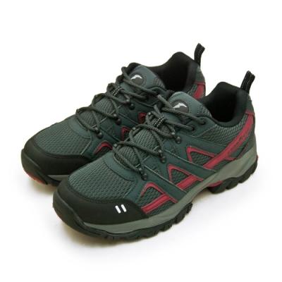 多功能郊山戶外越野健行鞋 鞋頭防撞防護設計+透氣網布 耐磨橡膠刻紋大底+夜間反光