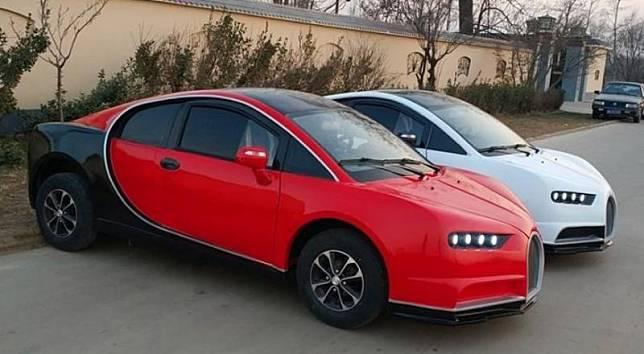 Produsen kendaraan China membuat mobil mirip dengan Bugatti Chiron bernama Shandong Qilu Fengde P8. (Foto: Car News China)