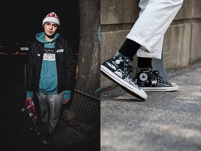 Sean Pablo將自己在洛杉磯童年回憶以手繪圖案呈現於鞋身之上。(互聯網)
